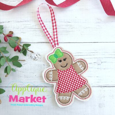 Gingerbread Girl ITH Ornament
