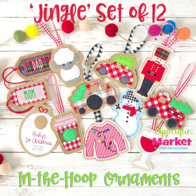 Jingle Set ITH Ornaments