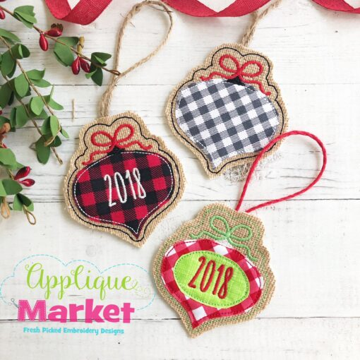 In the Hoop Ornament Vintage 2018