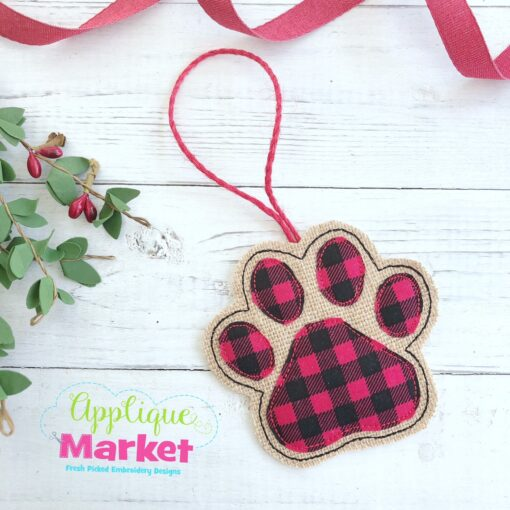 Paw Print ITH Ornament