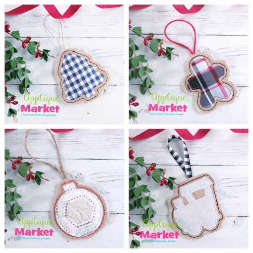 Simple Shapes Ornaments Set b