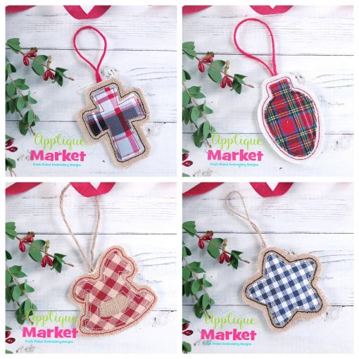 Simple Shapes Ornaments Set c