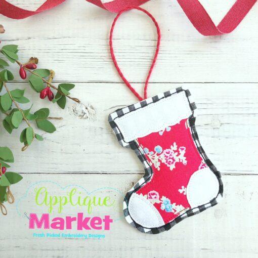 Stocking Scallop ITH Ornament