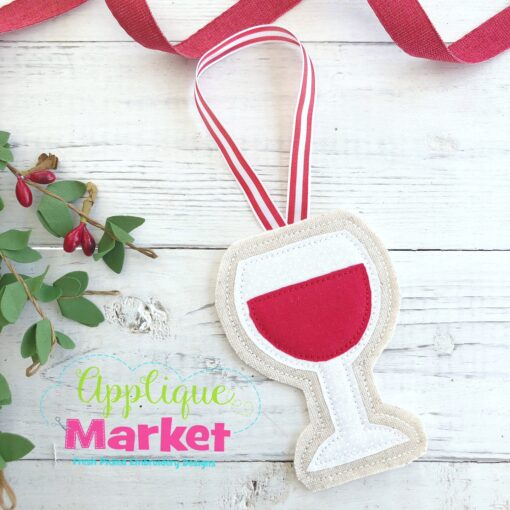 Wine Glass ITH Ornament