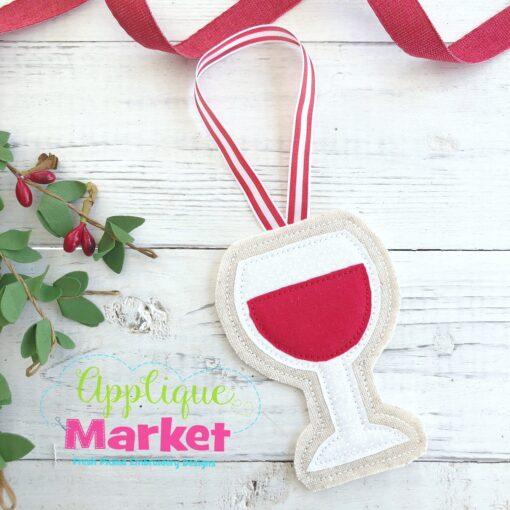 Wine Glass ITH Ornament