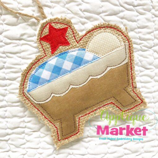 In the Hoop Manger Ornament 2