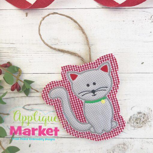 Cat ITH Ornament