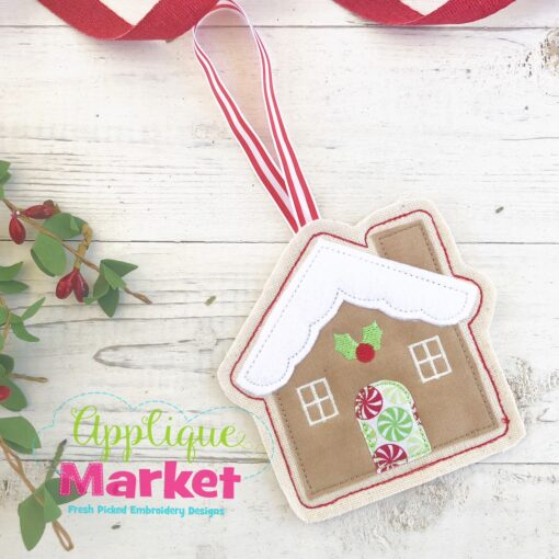 Gingerbread House ITH Ornament 2