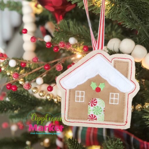 Gingerbread House ITH Ornament Tree