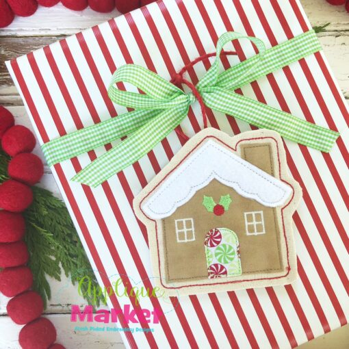 Gingerbread House ITH Ornament Gift Tie