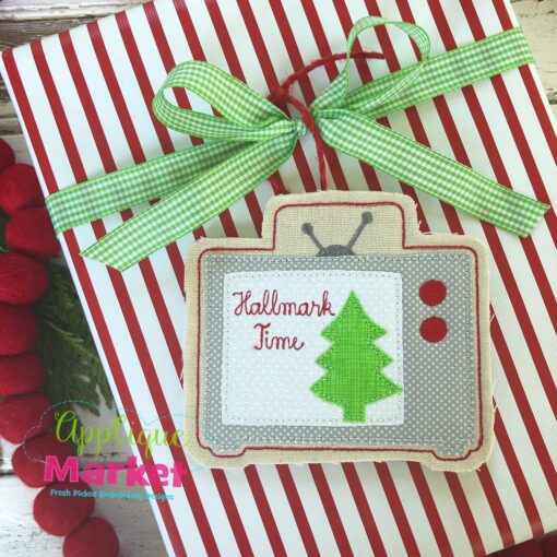 Hallmark TV ITH Ornament Gift Tie
