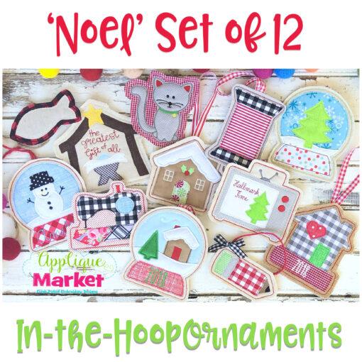 In the Hoop Ornament Noel Set