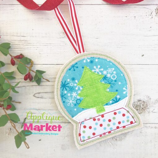 Snow Globe ITH Ornament 2