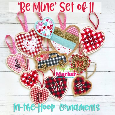 In the Hoop Ornaments Be Mine Valentine Set