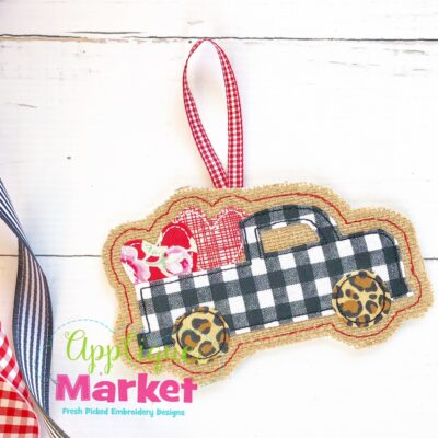 ITH Truck Heart Ornament