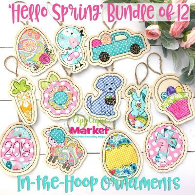 Easter In the Hoop Ornament Bundle
