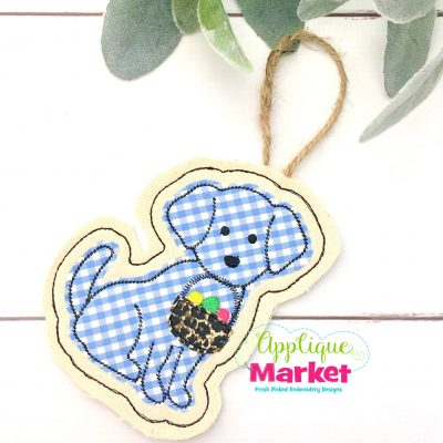 In the Hoop Puppy Easter Basket Ornament