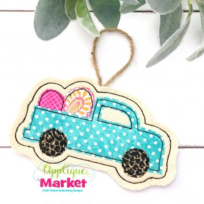 In the Hoop Truck Eggs Ornament
