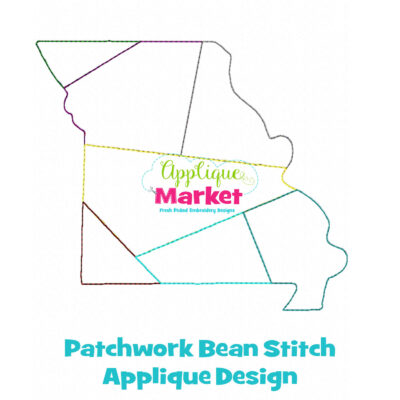 MIssouri Patchwork Applique Design