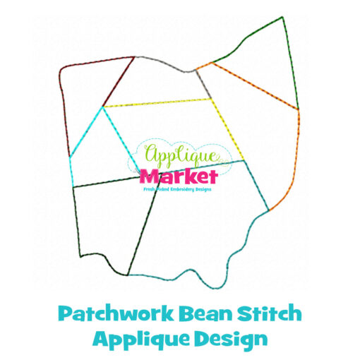 Ohio Patchwork Applique Design