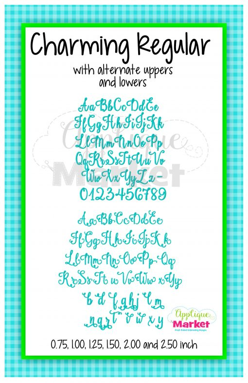 App Market Font Printable Charming Regular