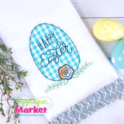 Egg Flower Happy Easter Bean