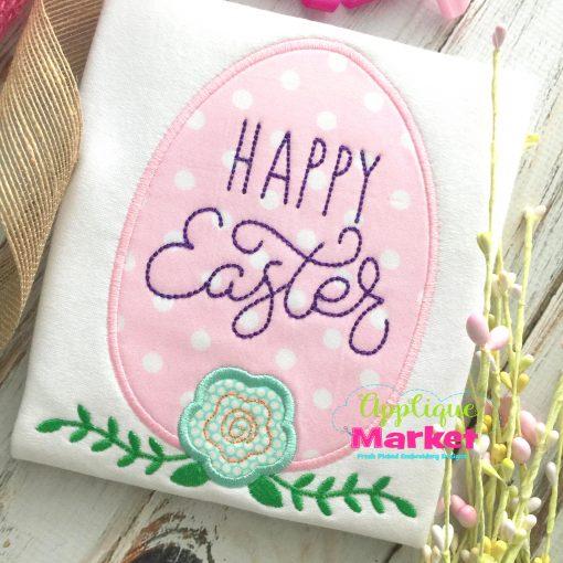 Egg Flower Happy Easter Satin
