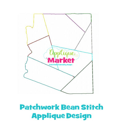 Arizona Patchwork Applique Design