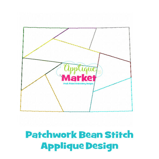 Colorado Patchwork Applique Design