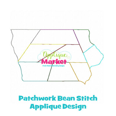 Iowa Patchwork Applique Design