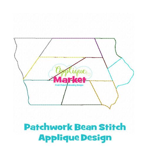 Iowa Patchwork Applique Design