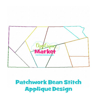 Kansas Patchwork Applique Design