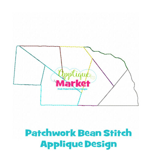 Nebraska Patchwork Applique Design