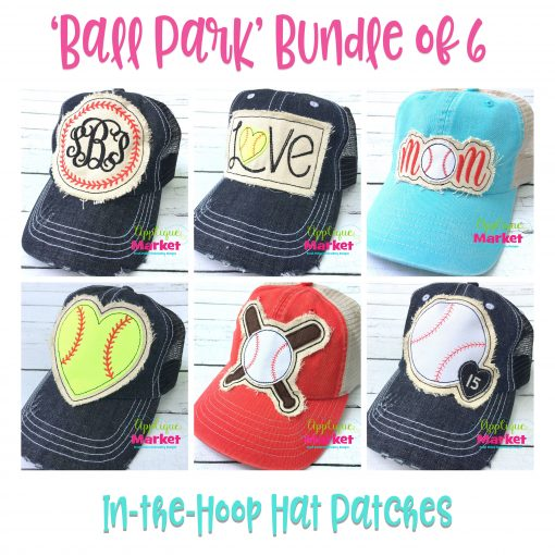 In the Hoop Hat Patch Ball Park Bundle