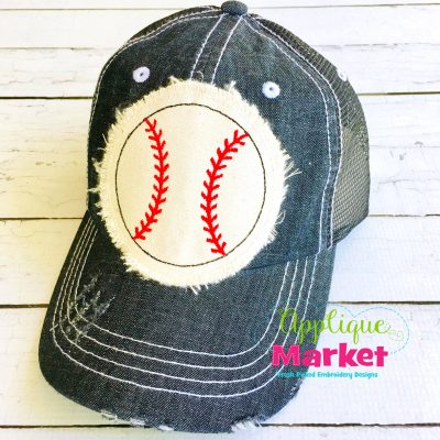 Baseball Hat Patch Applique