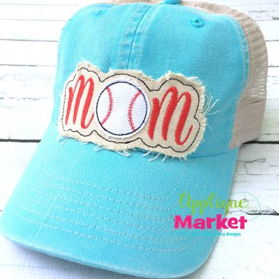 Baseball Mom Hat Patch