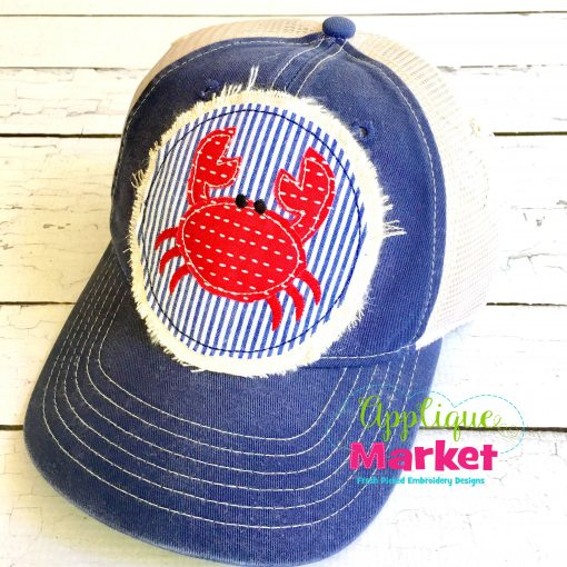Crab Circle Hat Patch Applique