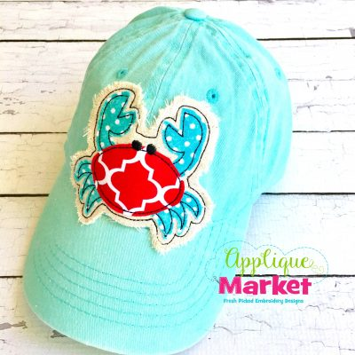 Crab Hat Patch Applique