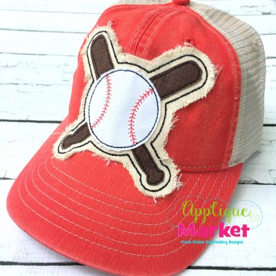 Crossed Bats Hat Patch