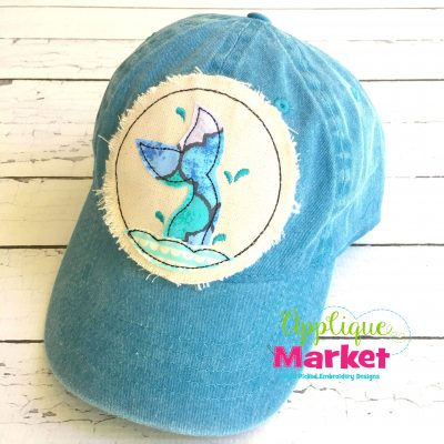 Mermaid Tail Hat Patch Applique