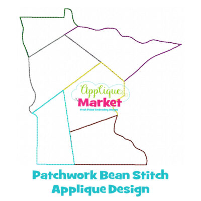 Minnesota Patchwork Applique Design