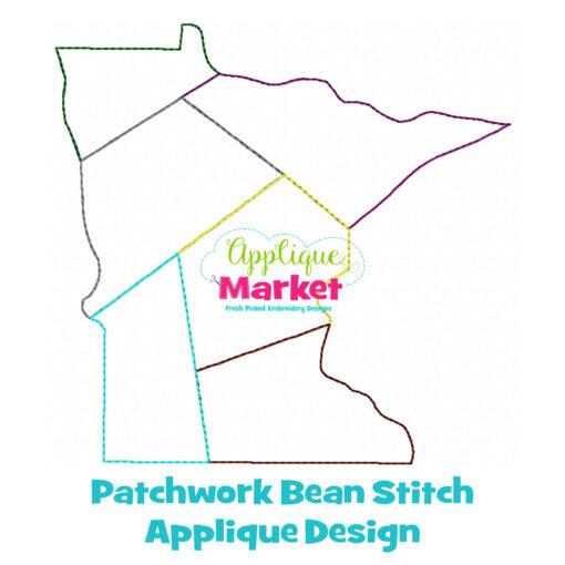 Minnesota Patchwork Applique Design