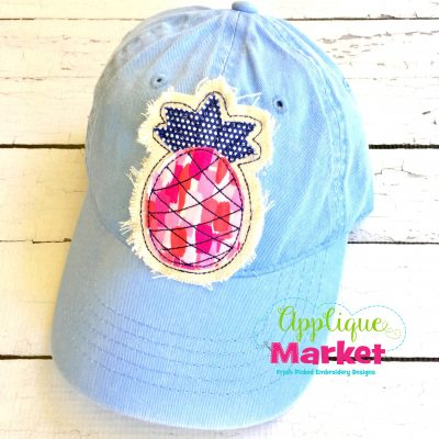Pineapple Hat Patch Applique