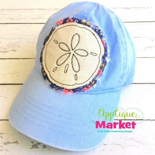 Sand Dollar Hat Patch Applique