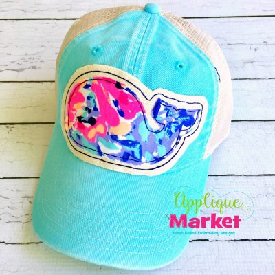 Whale Hat Patch Applique 2