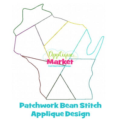 Wisconsin Patchwork Applique Design