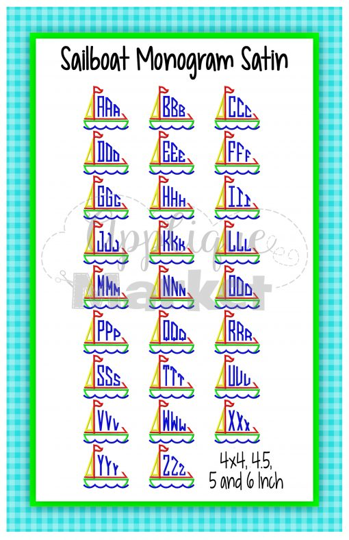 Sailboat Monogram Printable
