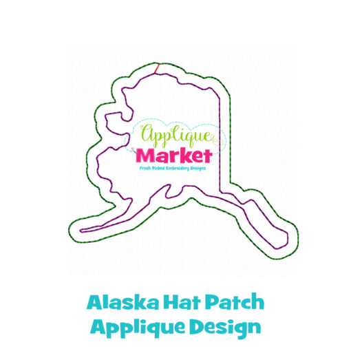 Alaska Hat Patch Applique Design