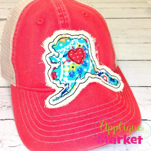 Alaska Outline Applique Hat Patch