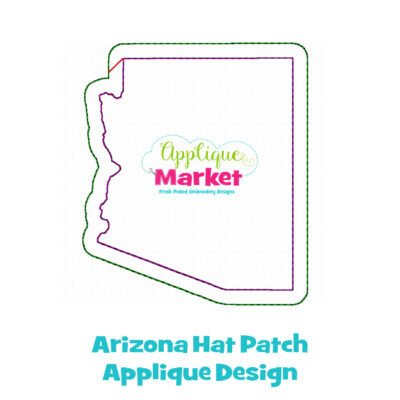 Arizona Hat Patch Applique Design
